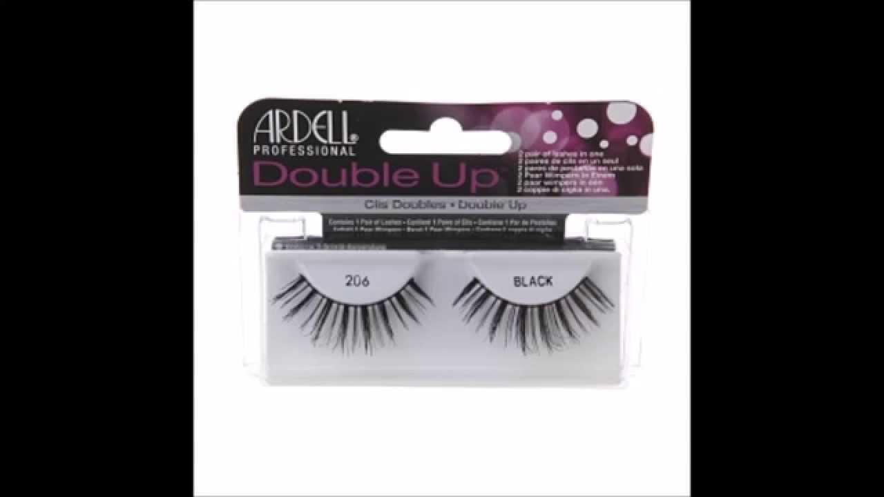 1227817b204 Ardell Double Up Lashes, Black, Style 206 - YouTube