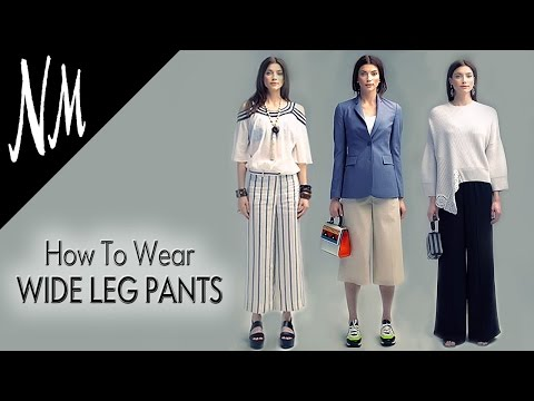 6df43a848e12 How to Wear Wide Leg Palazzo Pants | Outfit Ideas from Neiman Marcus -  YouTube