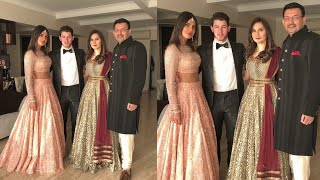 Priyanka Chopra and Nick Jonas with friends at Isha Ambani wedding ceremony latest Pics video