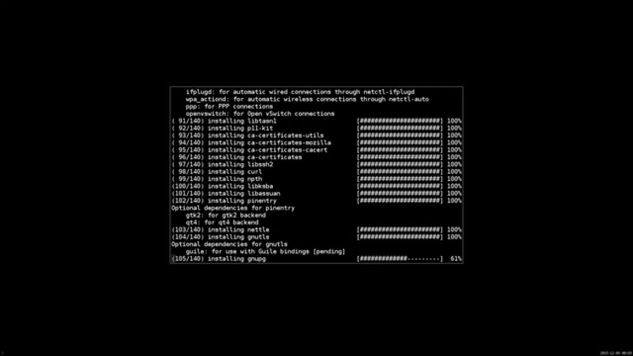Arch Linux | Two-Way authentication encryption | Full disk encryption