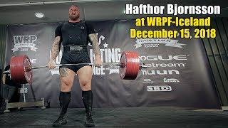 Hafthor Bjornsson at WRPF-Iceland, December 15, 2018
