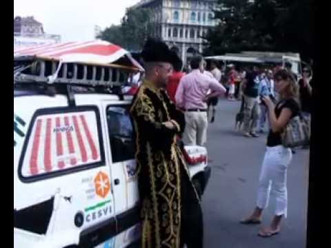 Mongol Rally 2008 The Tuff & Tade Video Start from Milan Milano Piazza Castello