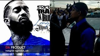 Crips Run Down On Bootleggers Selling Fake Nipsey Hussle Merch Staple Center..DA PRODUCT DVD