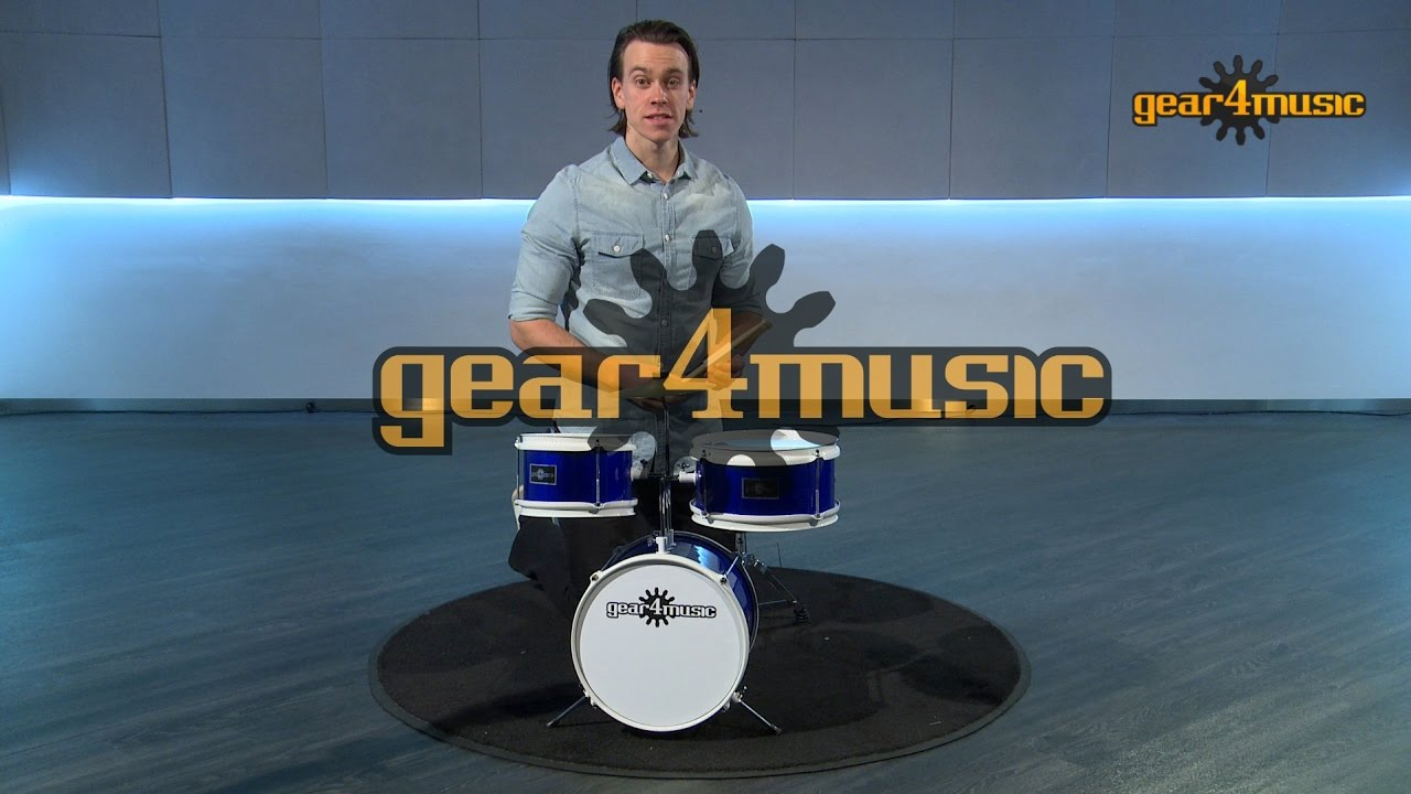 how to set up the infant 3 piece drum kit by gear4music