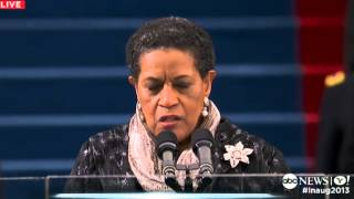 Inauguration Day 2013: Myrlie Evers-Williams Delivers Inaugural Prayer