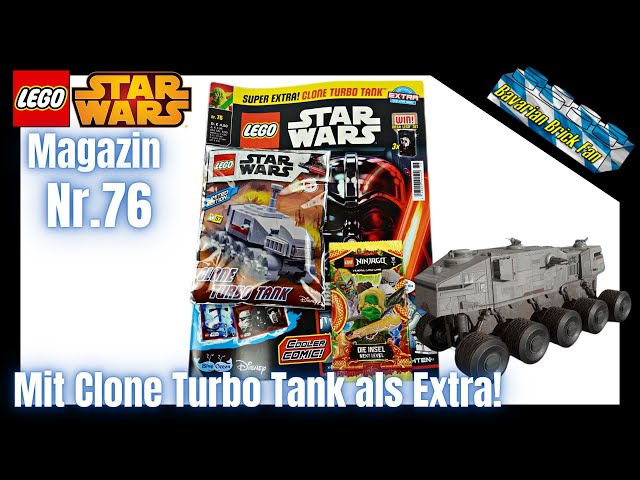 LEGO Star Wars Magazin Nr.76 mit Clone Turbo Tank als Extra | Review & Unboxing