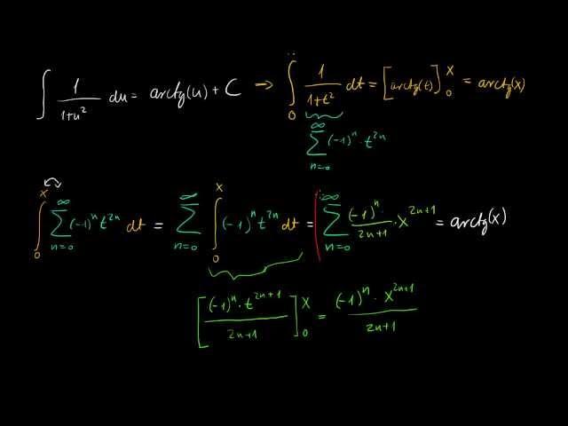Arctg(x) sora, tagonkénti integrálással