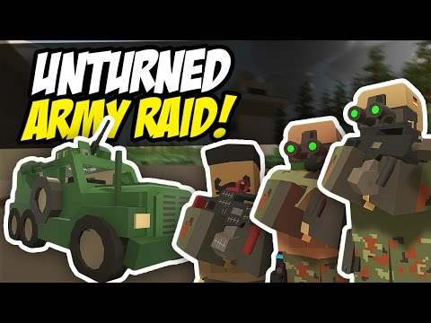 ARMY RAID - Unturned Base Raid (Military Roleplay)