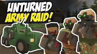 ARMY RAID - Unturned Base Raid (Military Roleplay)