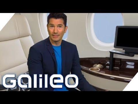 First Class Flug für 250 Euro statt 20.000 Euro: Reisen wie die Superreichen   Galileo   ProSieben