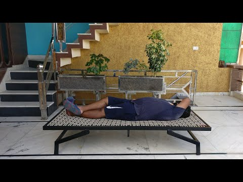 Build a Portable Space saving foldable steel bed for outdoor