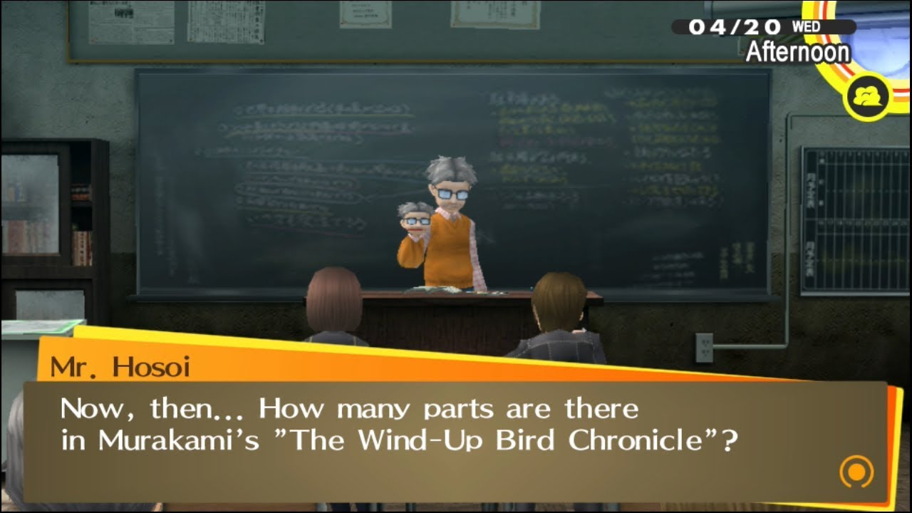 Persona 4 Golden Classroom Answers: school class quiz, test and ...