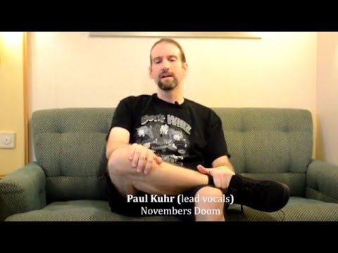 Novembers Doom Interview with vocalist Paul Kuhr on the Healing Power of Music  Rock Heart #009