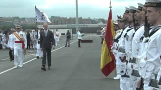 La fragata Blas de Lezo recibe su bandera de combate