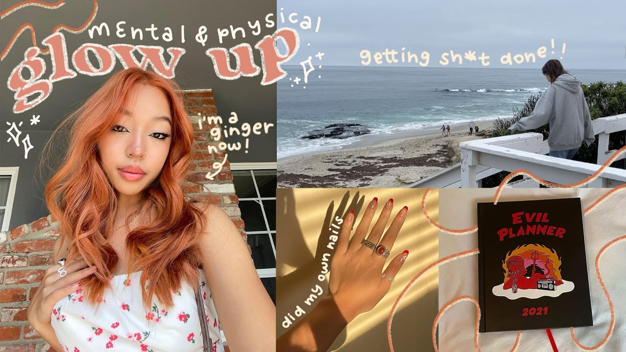 GLOW UP WITH ME: dyeing my hair ginger + being productive