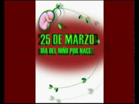 25 De Marzo Día Del Niño Por Nacer Animación Youtube