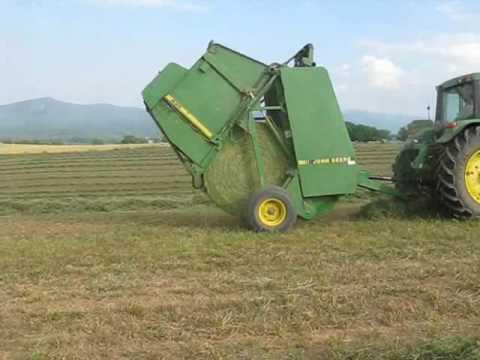 Round Baling Hay