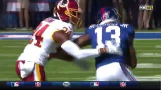 Odell Beckham Jr. Burns Josh Norman for Big Gain! | Redskins vs. Giants | NFL
