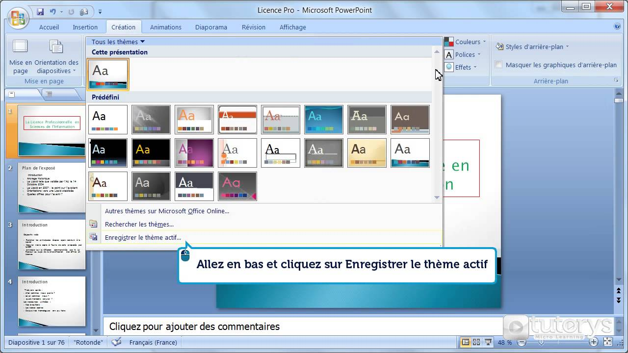 comment cr u00e9er un th u00e8me avec powerpoint 2007