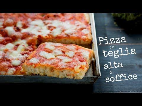 PIZZA IN TEGLIA ALTA E SOFFICE DI BENEDETTA – Ricetta Facile Senza Impasto