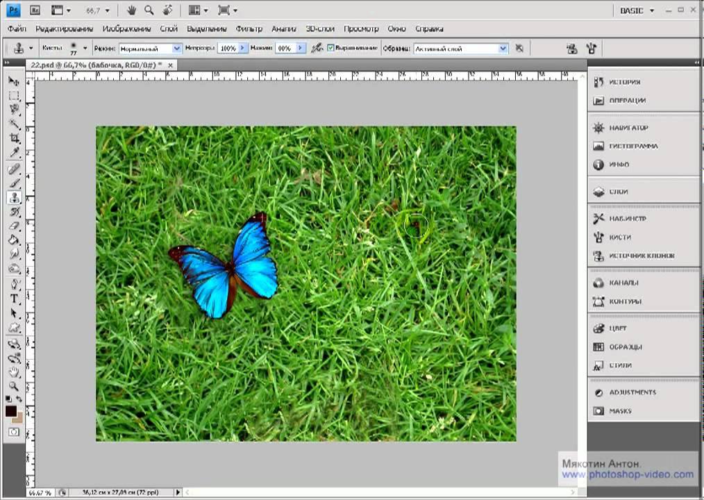 Уроки фотошопа -- Как пользоваться инструментом Штамп