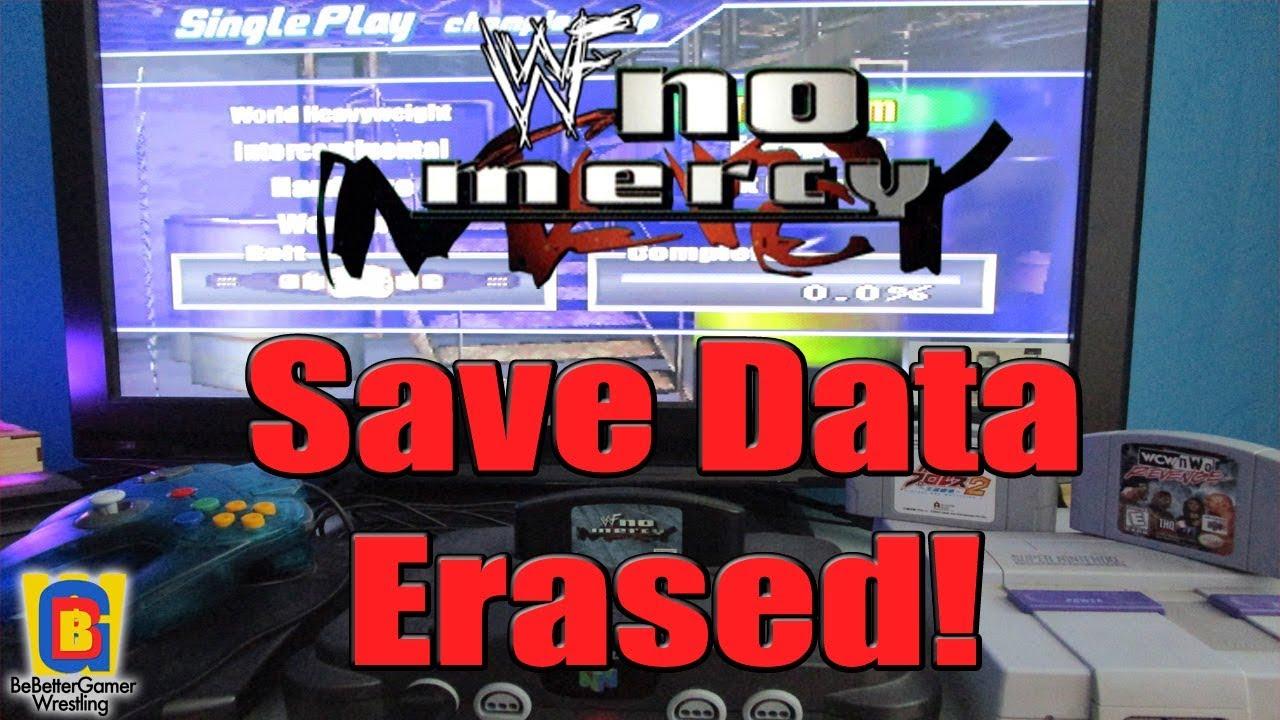 My WWF No Mercy N64 cartridge save data was erased!