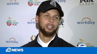 Stephen Curry hosts charity golf tournament in San Francisco