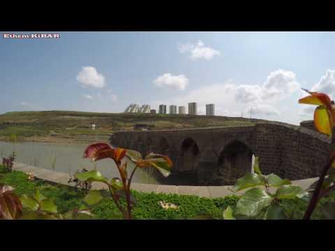 Diyarbakır On Gözlü Köprü Dicle Köprüsü - 4K - Gopro Hero4 Black Edition