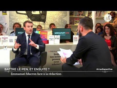 Emmanuel Macron speaks out on Trump, Putin, Palestine, Syria, and the Greek debt