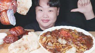 짜장면,꿔바로우,바퀴벌레튀김 먹방ASMR//BLACKB…