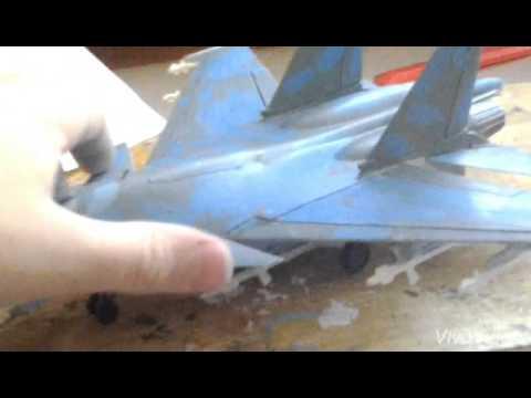 стендовый моделизм сборка самолетаСУ 33 часть 3