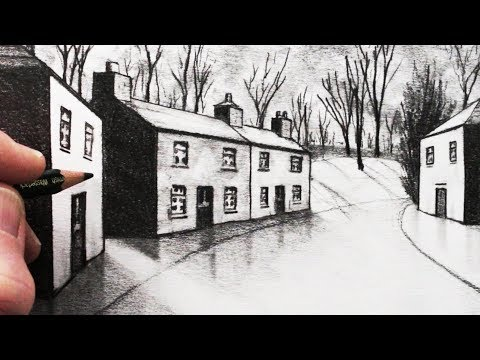 How to Draw a House in 1-Point Perspective: 3 Different Views