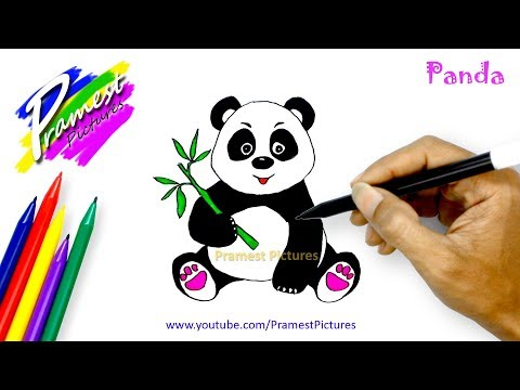 Panda | Learn To Draw And Color Animals For Kids