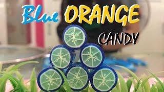 #52 Hard Candy | 手作りキャンディ| 수제 사탕 | Blue Orange Sticky Candy
