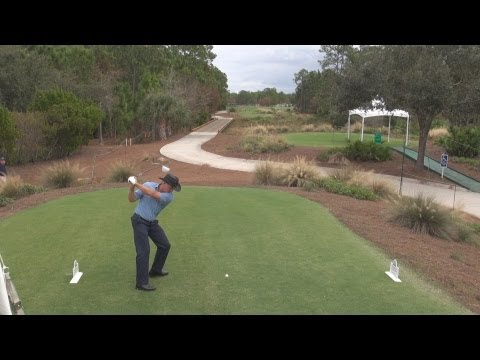 GOLF SWING 2012 - THE SHARK GREG NORMAN DRIVER - ELEVATED DTL & SLOW MOTION - HQ 1080p HD