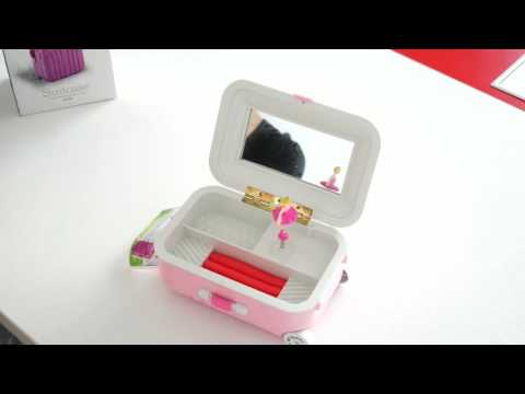 Luggage Ballet Ballerina Girl Music Box Jewelry Storage ——Buyincoins.com
