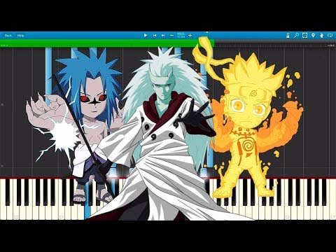 Naruto Shippuden Opening 1,2,3,4,5,6,7,8,9,10 (Piano Cover Synthesia)