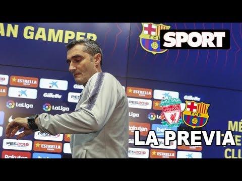 LIVERPOOL - FC BARCELONA   SEMIFINAL CHAMPIONS (VUELTA)   RUEDA DE PRENSA DE VALVERDE Y LUIS SUÁREZ