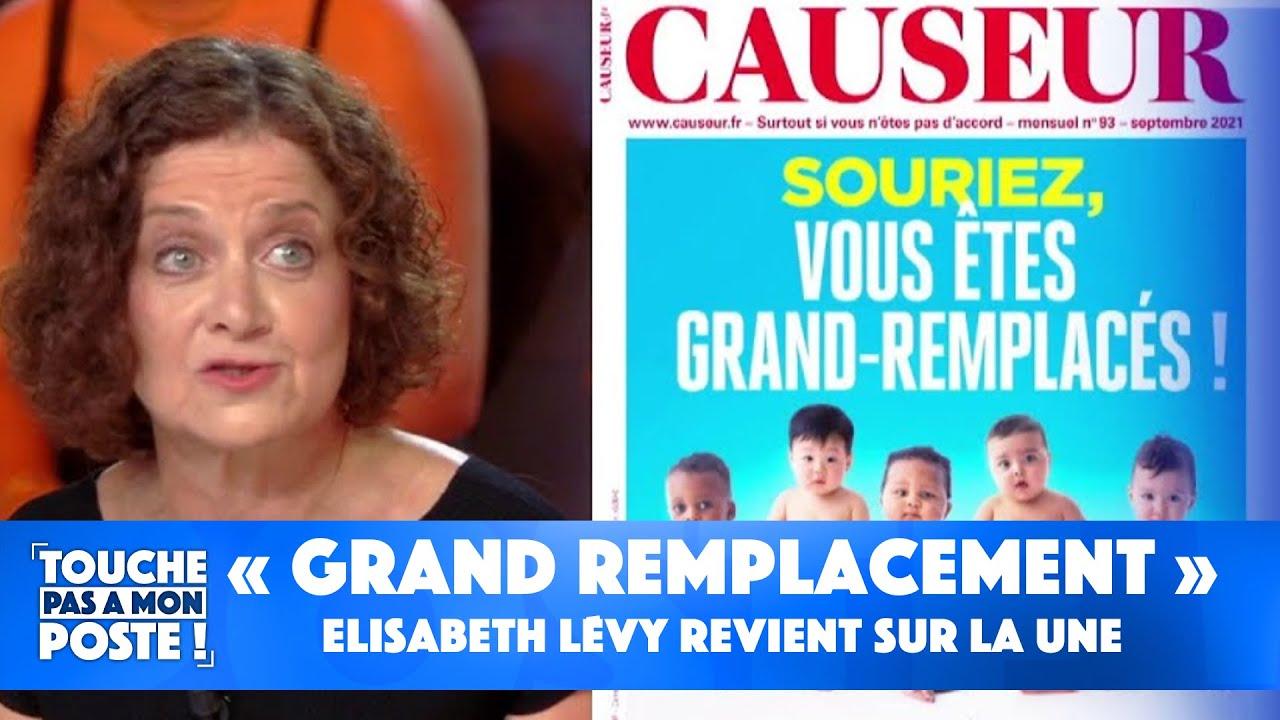 """Replay TPMP : """"Grand remplacement"""" : Elisabeth Lévy, revient sur la Une du magazine Causeur"""