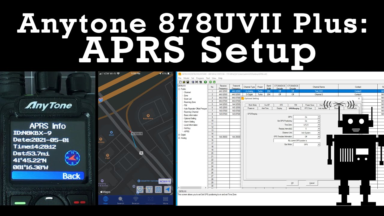 Download New Anytone AT-D878UVII APRS Setup