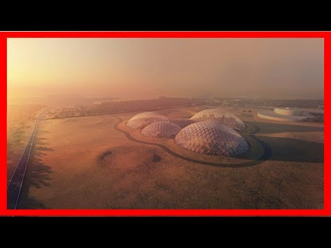 Breaking News   Uae is building a giant fake mars city in the desert