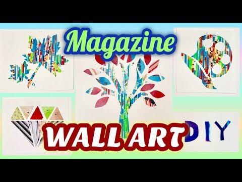5 DIY MAGAZINE WALL DECOR IDEAS!!! | Easy Wall Art Tutorial