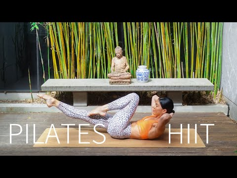 FULL BODY PILATES HIIT WORKOUT || Low Impact (Warm Up & Cool Down Included)