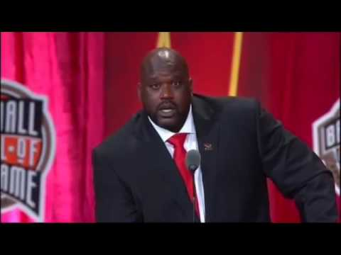 Shaq hof speech