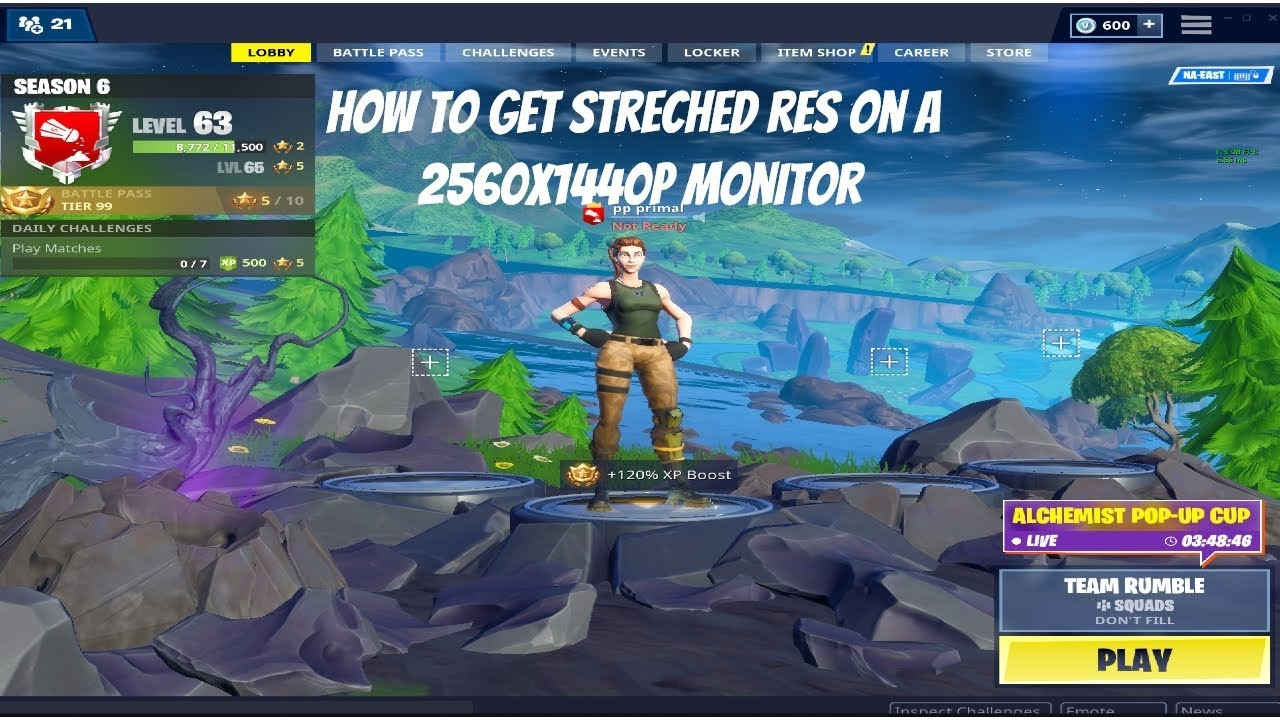 How To Get Streched Res On A 2560x1440 Monitor For Fortnite