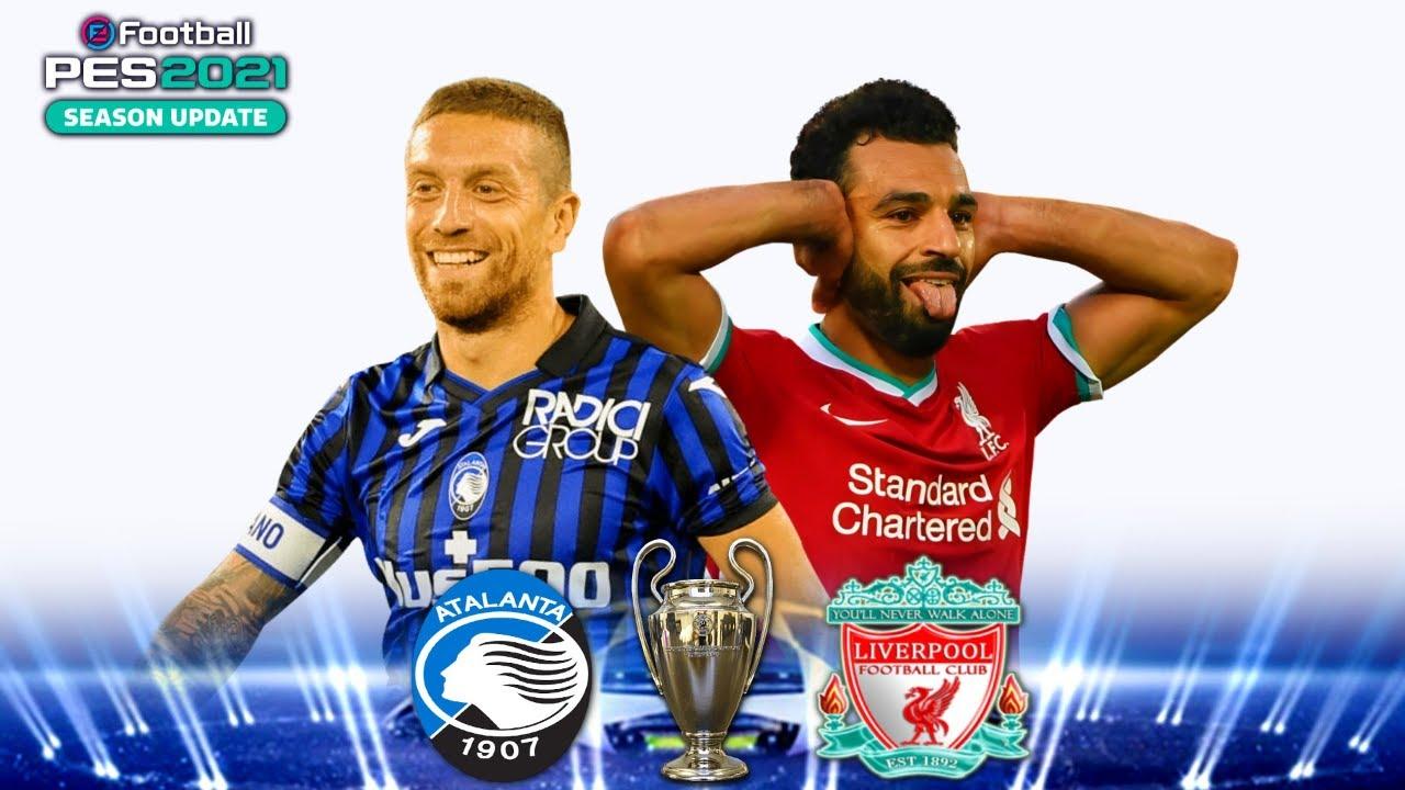 Atalanta v Liverpool Champions League PES 2021 Score ...