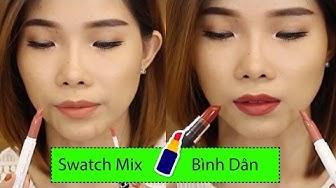 RƯ REVIEW ♡ SWATCH MIX 5 MÀU SON LÌ BÌNH DÂN– Colourpop NYX Changmakeup CityColor Matte Lipstick 🎁