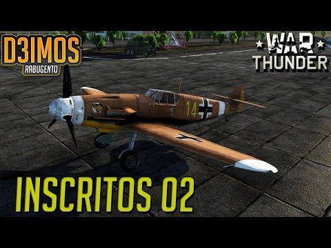 War Thunder: Jogando com os inscritos 02 BF 109 G2-TROP