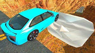 Beamng Drive - Open Bridge Crashes Over Giant Diamond Play Button #6