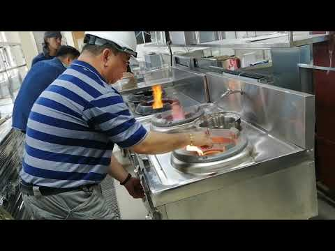 Chinese wok double Burner testing and Demo